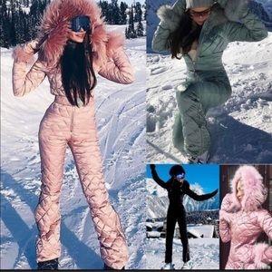 Womens ski suit black small